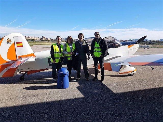 Avioneta que ha participado en el estudio de Dexeus y la UPC