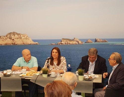 La directora del Programa de Turismo del Imserso, Amelia García, acude a la presentación de la Confederación Española de Organizaciones de Mayores (CEOMA)