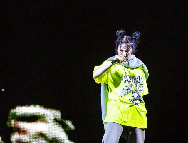 23 June 2019, US, Atlanta: US singer Billie Eilish performs during a live concert at Atlanta's State Bank Amphitheatre at Chastain Park. Photo: Ryan Fleisher/Imagespace via ZUMA Wire/dpa