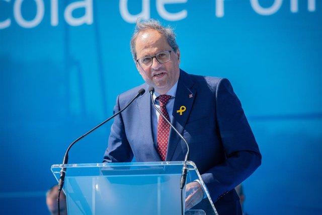 El President Quim Torra Intervé En L'Entrega De Diplomes En La Graduació De Mossos (ARXIU)