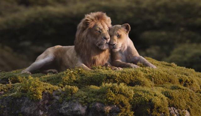 Fotograma de El rey león, el remake del clásico Disney