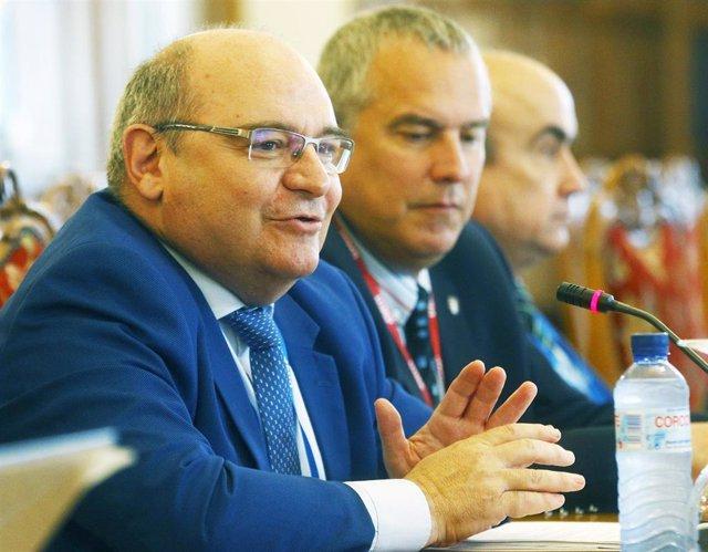 El Secretario General de Universidades, José Manuel Pingarrón en el curso de la UIMP