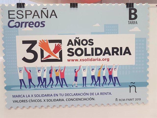 Sello de Correos por los 30 años de la X Solidaria