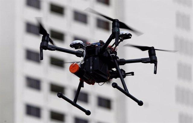 Demostración de vuelo de un dron de la Nasa en la Plataforma de gestión de tráfico de sistemas de aviones no tripulados (UTM) en Reno.