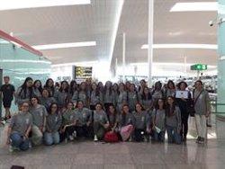 Viatgen a Barcelona 24 alumnes de l'accident a la Costa d'Ivori (COLEGIO CANIGÓ)
