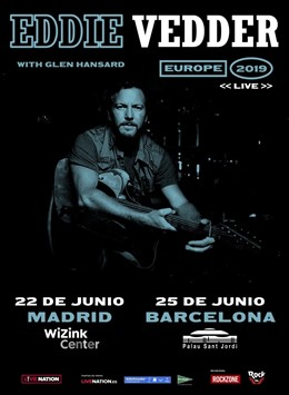 Cartell dels concerts d'Eddie Vedder a Madrid i Barcelona
