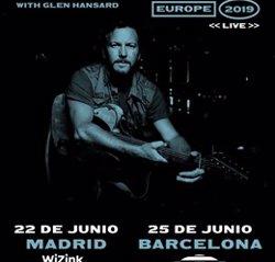 Eddie Vedder actua aquest dimarts a Barcelona en la seva gira europea en solitari (LIVE NATION)