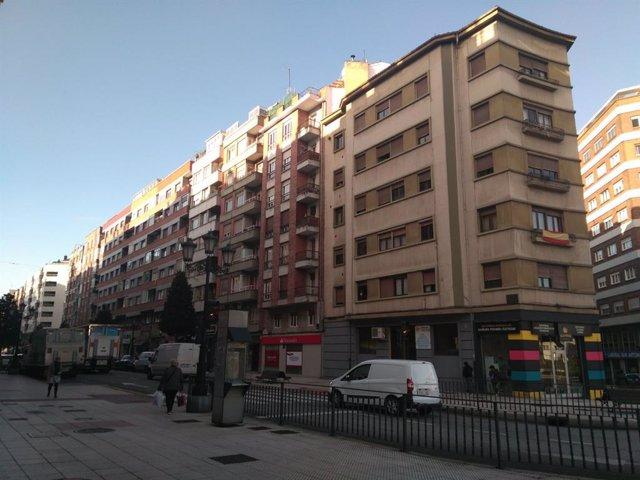Edificio de viviendas en Oviedo.