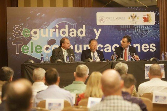 Sanz Roldán en el IV Congreso de Seguridad y Telecomunicaciones en Toledo