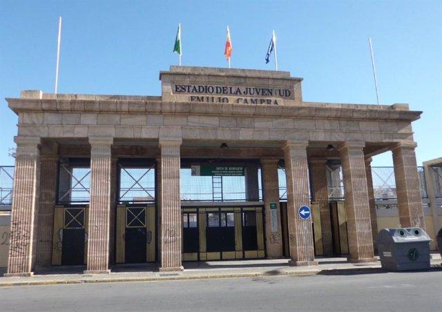 Entrada al Estadio de la Juventud Emilio Campra de Almería