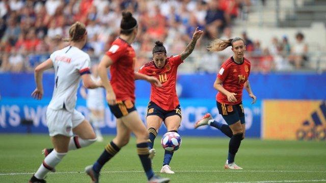 Jennifer Hermoso anota l'1-1 contra els EUA en el Mundial de França