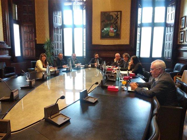 Reunión de la Mesa del Parlament