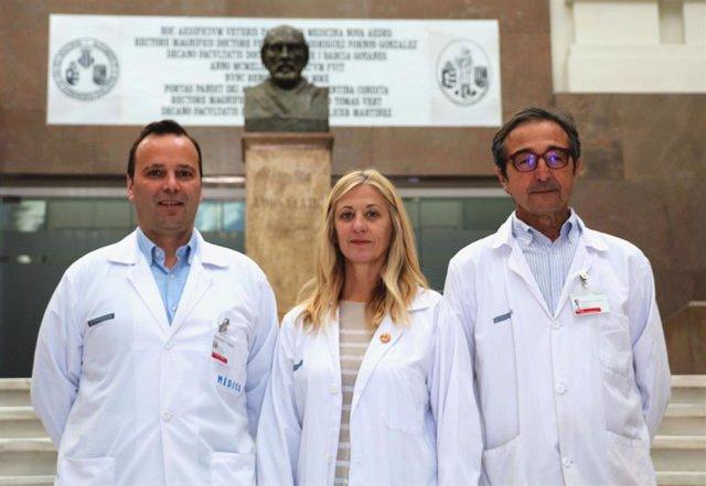 Los investigadores Carlos Ferrando, Marina Soro y Javier Belda