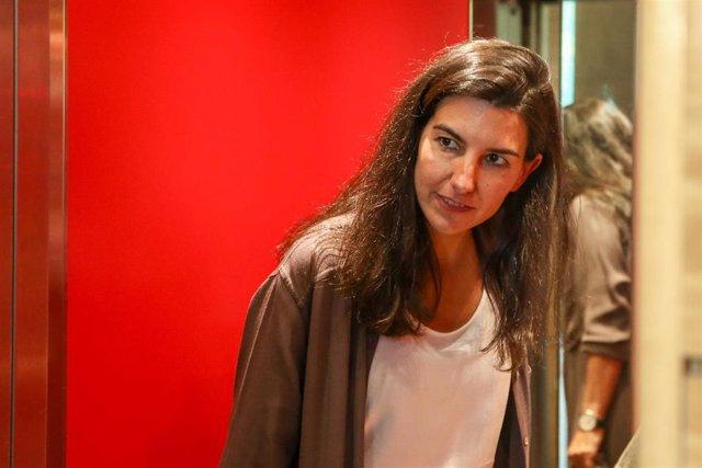 La candidata de VOX a la Presidencia de la Comunidad de Madrid, Rocío Monasterio, llega a la Asamblea de Madrid días antes de la constitución del Gobierno de la comunidad.