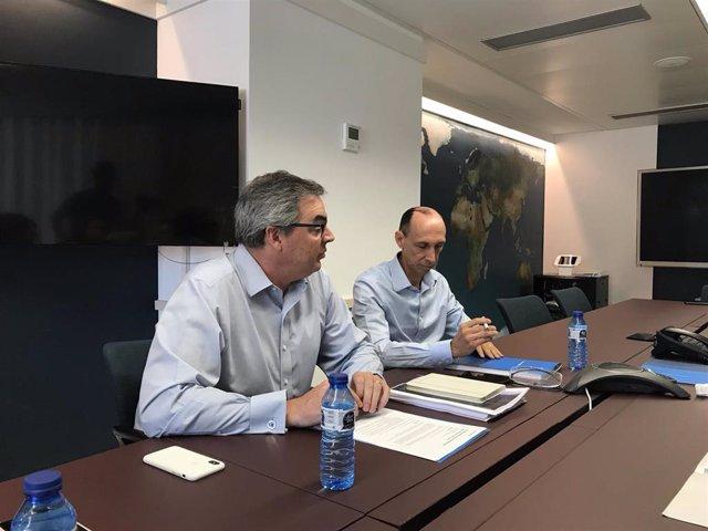 El consejero delegado de eDreams Odigeo, Dana Dunne, y el director financiero, David Elizaga