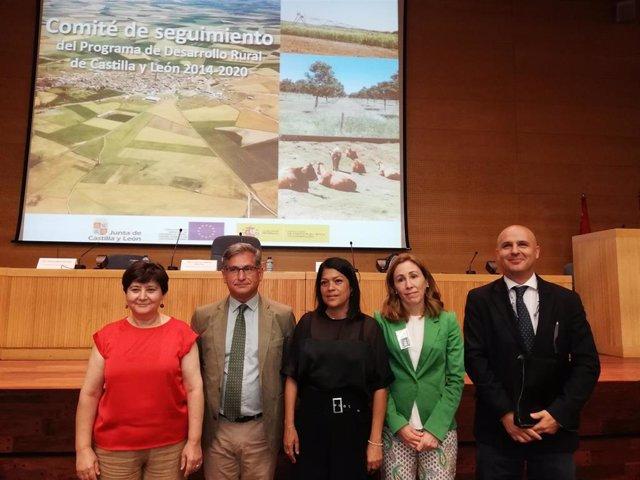 Cabanillas en el centro de la imagen con motivo de la reunión del Comité de Seguimiento del PDR de Castilla y León