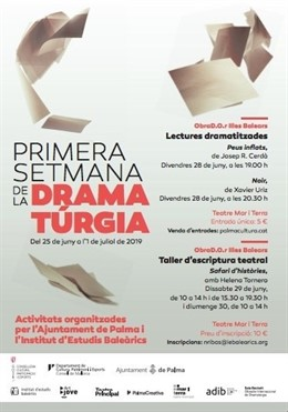 Cartell informatiu de la I Setmana de la Dramatúrgia.