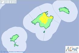 La Aemet establece el aviso amarillo por altas temperaturas en Mallorca