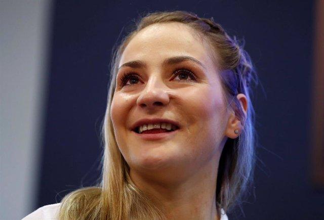 La ciclista alemana y doble campeona olímpica Kristina Vogel
