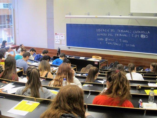 Selectividad en el Campus de la Ciutadella de la UPF
