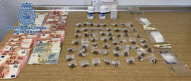 Droga incautada en una vivienda en La Línea