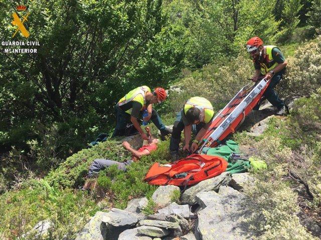 Rescate de un senderista accidentado en la Sierra de Ayllón