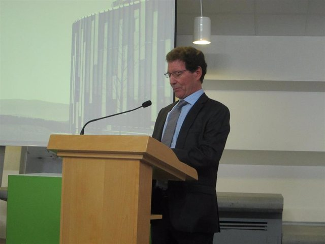 El presidente del Tribunal de Garantías, Argimiro Rojo, durante su intervención