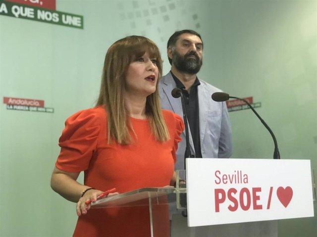 Verónica Pérez y Javier Fernández, en rueda de prensa