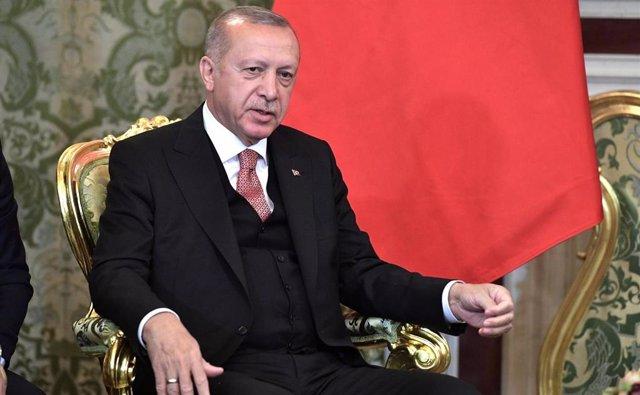 El presidente turco, Recep Tayyip Erdogan, durante una reciente visita a Moscú