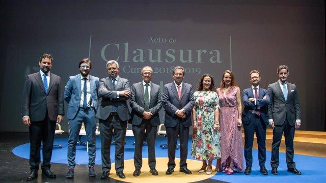 Acto de clausura del curso académico en el Instituto de Estudios Cajasol 2018-2019.
