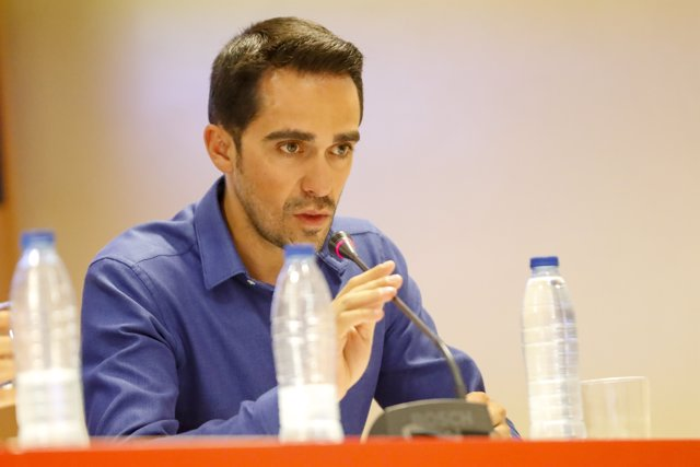 Alberto Contador en la presentación de La Vuelta Junior Cofidis