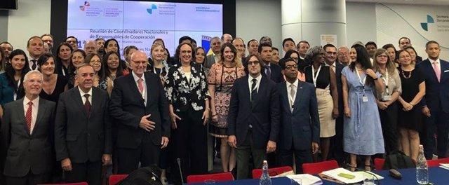 Reunión de coordinadores nacionales y responsables de Cooperación iberoamericanos en Madrid con vistas a la Cumbre de Andorra en 2010