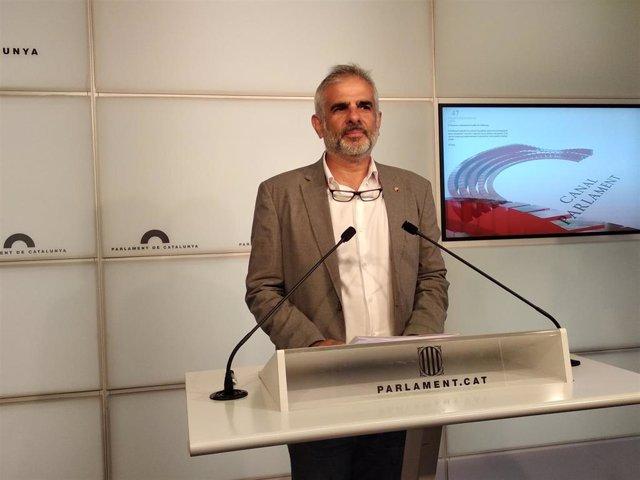 El president de Cs al Parlament, Carlos Carrizosa