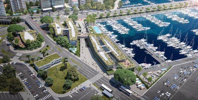 Una imatge virtual del projecte de reforma del Club de Mar Mallorca, a Palma