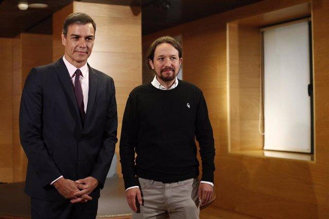 Sánchez e Iglesias se reúnen esta tarde en La Moncloa para intentar desbloquear la negociación para la investidura