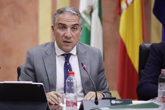 Elías Bendodo en comisión parlamentaria