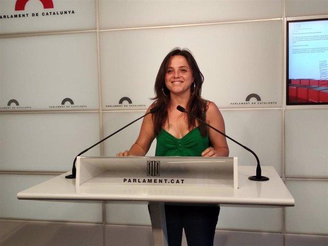 La diputada de la CUP en el Parlament Maria Sirvent.