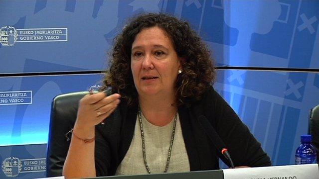 La directora de Víctimas y Derechos Humanos del Gobierno Vasco, Monika Hernando