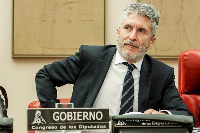 El ministro del Interior, Fernando Grande-Marlaska, comparece en Comisión de Interior en el Congreso de los Diputados.