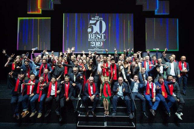 Chefs en la entrega de los galardones The World's 50