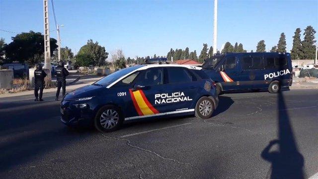Actuación policial con siete detenidos en el asentamiento chabolista del Vacie