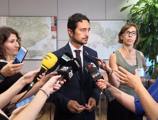 El conseller de Territorio y Sostenibilidad de la Generalitat, Damià Calvet