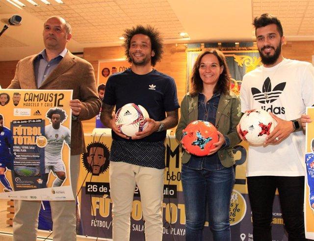 Campamento deportivo de los futbolistas Marcelo y Caio en Getafe