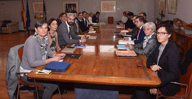 Mesa negociadora del primer Convenio Colectivo del fútbol femenino español