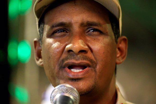 El 'número dos' de la junta militar de Sudán y líder de las RSF, Mohamed Hamdan Dagalo, conocido como 'Hemedti'