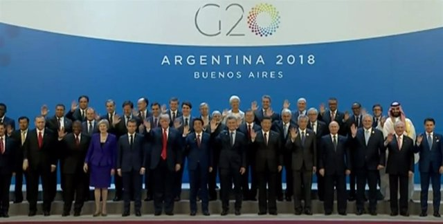 Los líderes del Grupo de las 20 en la edición del año 2018