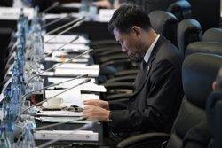 L'esborrany del comunicat de la cimera del G20 destaca la necessitat de fomentar el lliure comerç (REUTERS / POOL NEW)