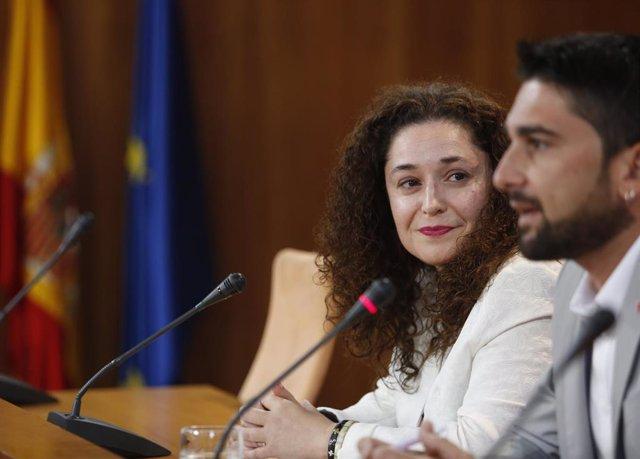 Los parlamentarios de Adelante Andalucía Inmaculada Nieto e Ismael Sánchez