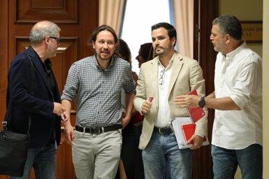 """Iglesias diu que la coalició """"està molt més a prop"""", tot i que després d'una primera investidura fallida (Jesús Hellín - Europa Press)"""