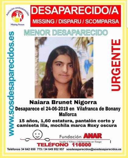 Localitzen en bon estat a casa d'una amiga a la menor de Vilafranca de Bonany desapareguda